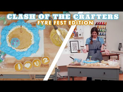 Are These the Fyre Island of Pull-Apart Beach Cupcakes? | Clash of the Crafters | HGTV Handmade