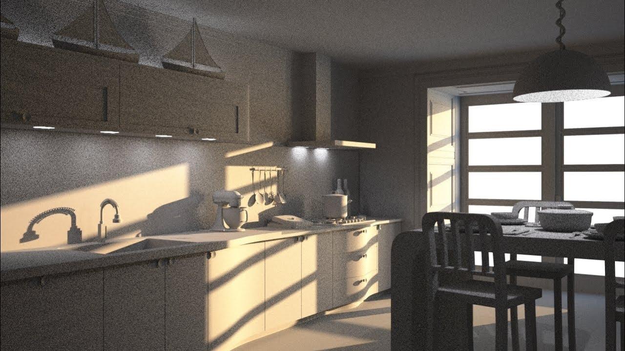 Maxwell render kitchen lightining tutorial 3ds max part 1 for Kitchen set 3ds max