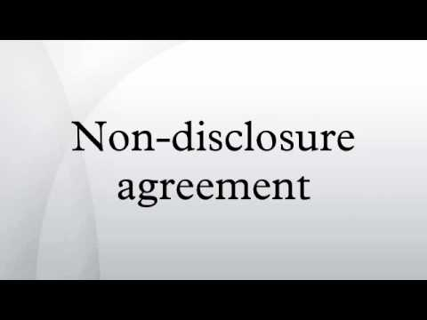 Non Disclosure Agreement Youtube