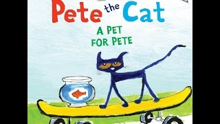 PETE THE CAT A Pet For Pete Read Aloud Along Story Book for Children Kids with Sound Effects!