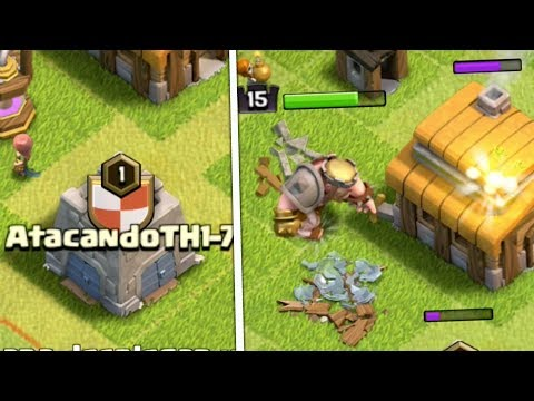 ATACANDO TU ALDEA TH 1 Al 7 - CLASH OF CLANS - DESAFIOS