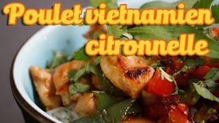 Recette facile du poulet à la citronnelle et gingembre