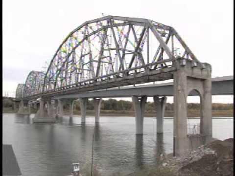 Destruction Of The Memorial Bridge Bismarck-Mandan, N.D.