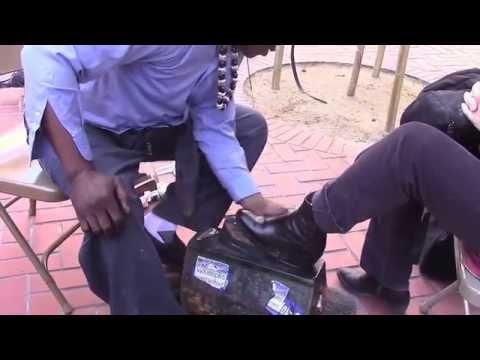 Shoe shine buy Olajuwon, World Peace Shoe Shine VI 2 24 2015