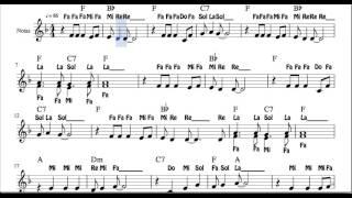 Ven a cantar Partitura con Notas Villancico