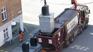 Контейнеры для подземных отходов - Подземные мусорные контейнеры - Как вывозят мусор в Европе