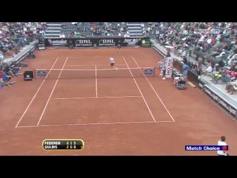 [HD] Federer vs Gulbis, 2010 Rome Masters Round 2