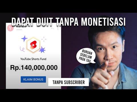Tutorial dapet gaji 140 Juta dari Youtube SHORTS tanpa Subscriber dan 4000 public watch hour
