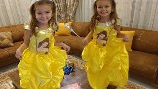 Elif prenses bella oldu. Bella kostümü, eğlenceli çocuk videosu