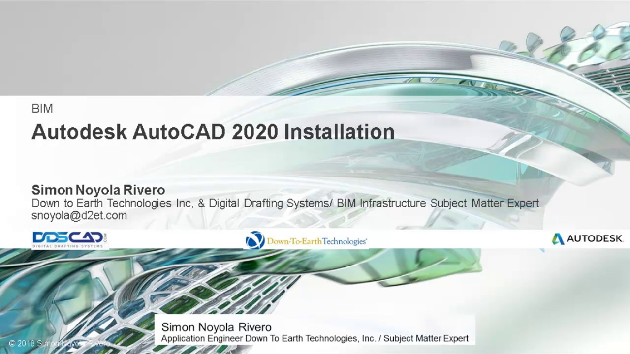 AUTOCAD 2020 AND VBA 2020 INSTALLATION & system requirements