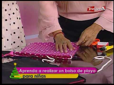 Aprenda a realizar un bolso de playa para niñas