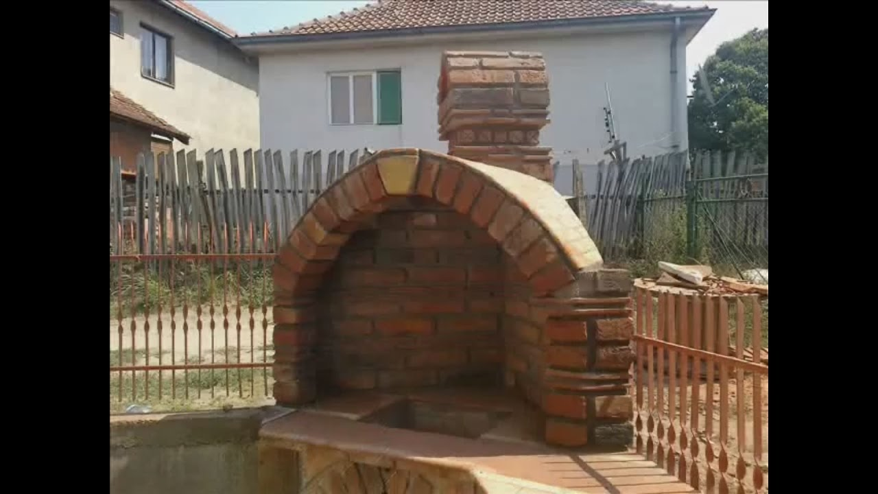 How To Build A Brick Amp Roof Tiles Barbeque Bbq Diy Wmv