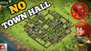 No Town Hall $ Strange But True $ This Player dose not have a Town Hall Strangest in Clash of Clans