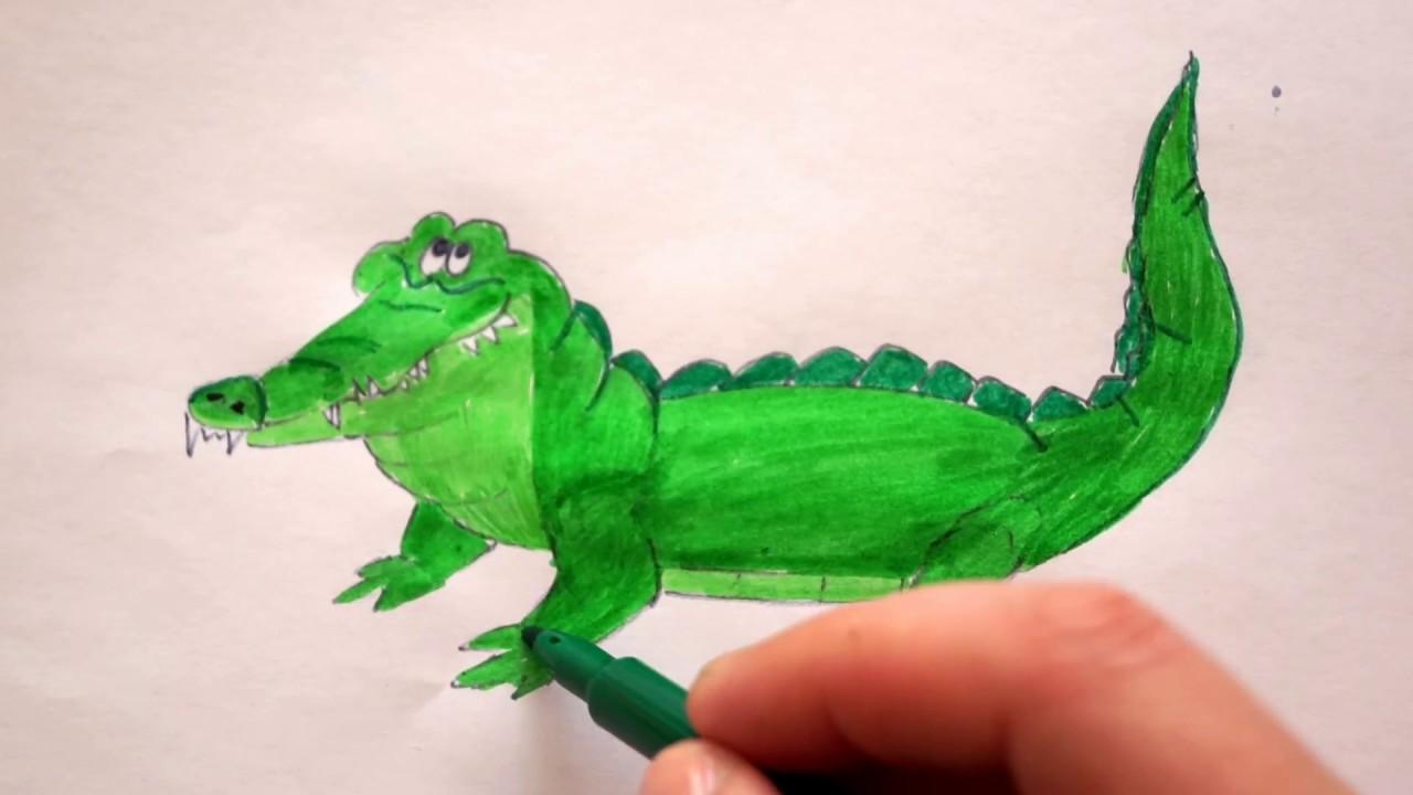 krokodil zeichnen