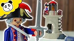 ⭕ PLAYMOBIL PIRATEN - Soldatenturm mit Leuchtfeuer - Spielzeug auspacken & spielen - Pandido