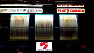 Live play Triple Gold Bars. High limit slot.