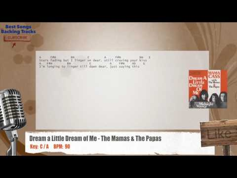 Dream a Little Dream of Me - The Mamas & The Papas Vocal Backing Track with chords and lyrics