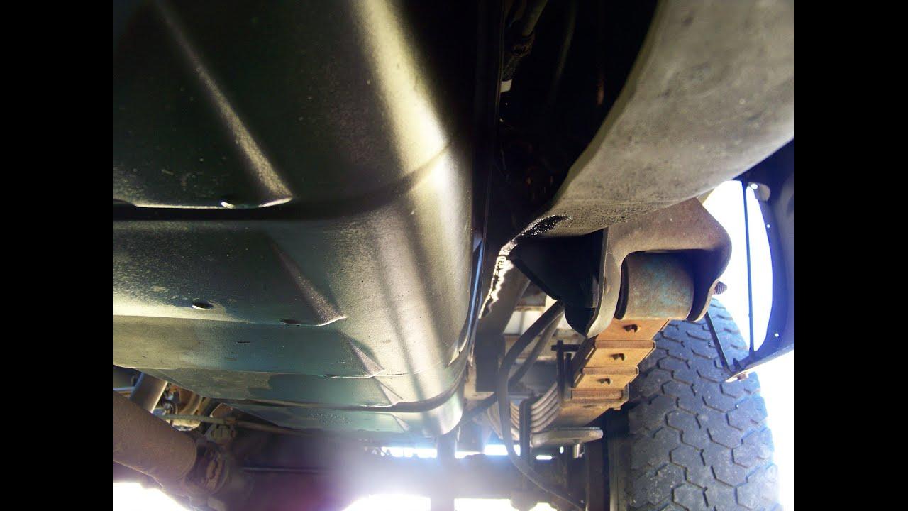 9698 Chevy Pickup brake fluid leak behind gas tank  YouTube