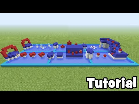 """Minecraft Tutorial: How To Make A Wipe out Parkour Course """"Easy Parkour Tutorial"""""""