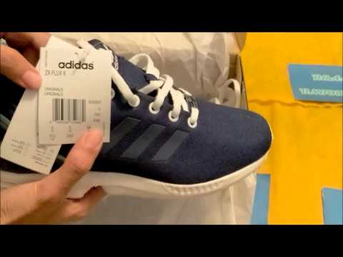 Zalando unboxing acquisti haul recensione (4) - Adidas ZX FLUX kids blu oxford review - YouTube