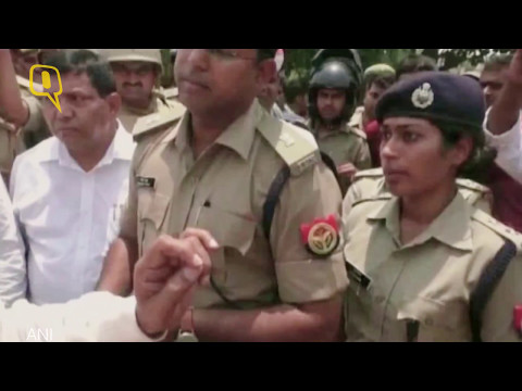 "The Quint: Woman IPS officer cries after BJP Lawmaker shouts ""don't cross limits"""