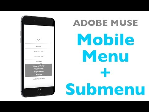 Adobe Muse Menu with Submenu