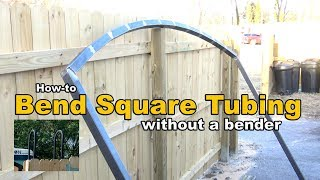 How to bend square tubing without a bender - metal fabrication