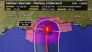 4:30 AM Friday Tropical Storm Nate Update