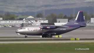 Ruby Star Antonov An-12 Landing and Take Off at Oslo Gardermoen Airport