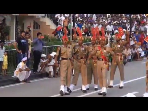 India-Pakistan border - Changing guards ceremony