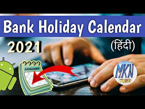 Bank Holiday Calendar 2021