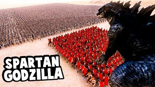 Can Godzilla help 300 Spartans defeat 10000 Persians in Ultimate Epic Battle Simulator?