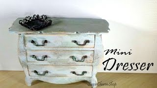 Miniature Furniture; Vintage Dresser Tutorial - Dolls/dollhouse
