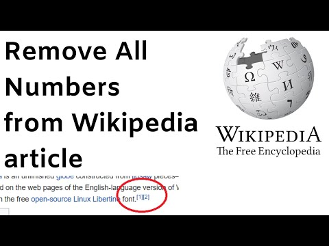 Remove superscripts from a wikipedia article