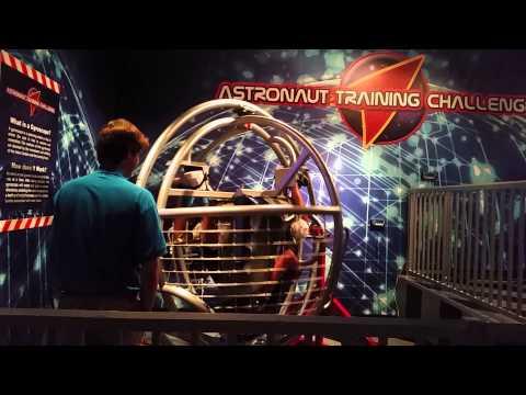 Astronaut training at Wonder Works Orlando Florida