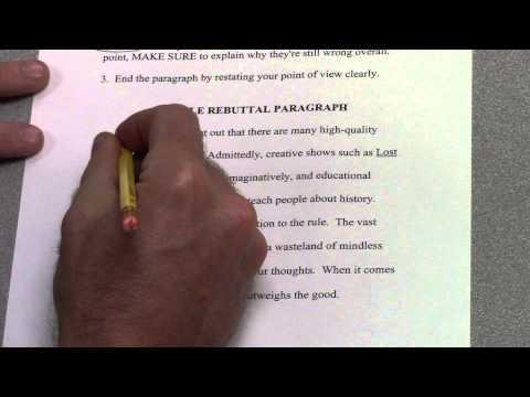 6-Paragraph Timed Argumentative Essay -- Part 6 -- Rebuttal Paragraph