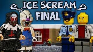 LEGO Мультфильм Мороженщик 5 - ФИНАЛ / Horror Game Ice Scream