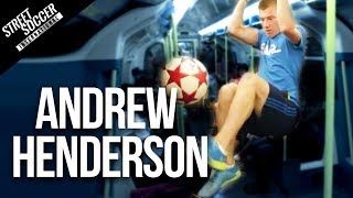 Insane Football skills - World Freestyle champion Andrew Henderson(PLEASE SUBSCRIBE LIKE/SHARE SUBSCRIBE http://www.youtube.com/subscription_center?add_user=STRskillSchool INSANE FOOTBALL SKILLS with ..., 2013-07-27T16:33:33.000Z)