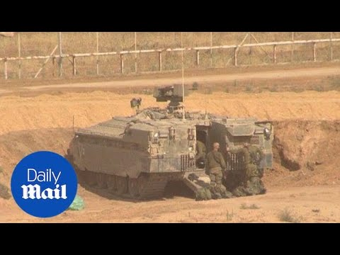 Israeli forces take up positions on Gaza border ahead of protests - Daily Mail