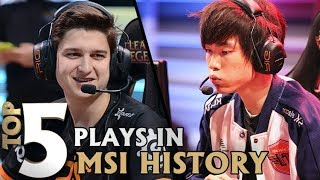 Top 5 Plays in MSI History | Lolesports