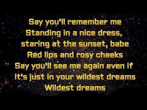 Taylor Swift Wildest Dreams Lyrics Video YouTube