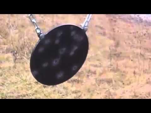 Steel Targets AR500 GONG vs 40 CAL GLOCK & 45 Cal 1911