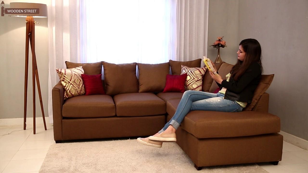 L Shape Sofa Design || Buy Adler L-shape Sofa Online ...