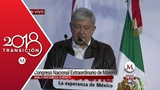 AMLO encabeza Congreso Nacional Extraordinario de Morena