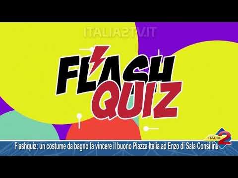 Flashquiz: un costume da bagno fa vincere il buono Piazza Italia ad Enzo di Sala Consilina