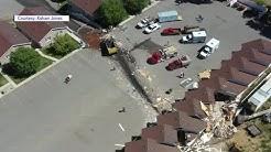 Dump truck crashes in Garden City