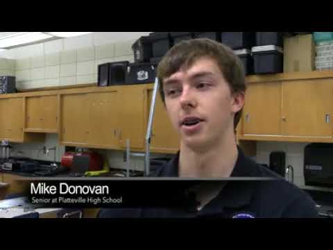 Platteville High School working with NASA