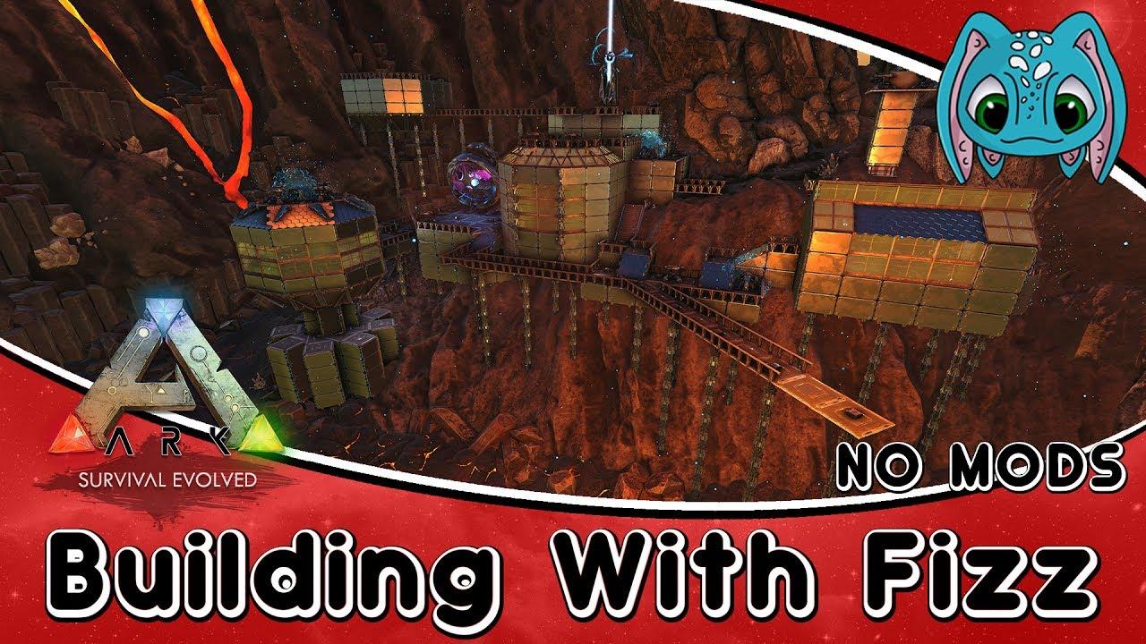 ARK:Survival Evolved Building w/ Fizz :: Volcanic Tek Base (No Mods)!!