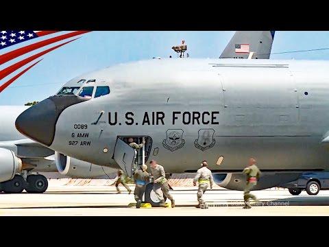 【スクランブル】アラート待機中の空中給油機による一斉緊急発進訓練