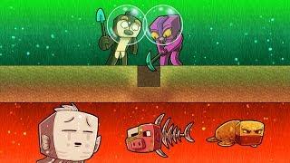WHAT'S UNDER THE TOXIC OCEAN FLOOR? (Minecraft Island Survival)